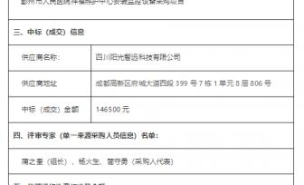 彭州市人民医院祥福照护中心安装监控设备采购项目竞争性磋商成交公告